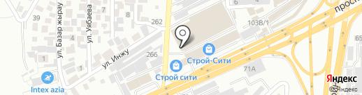 Метако на карте Алматы