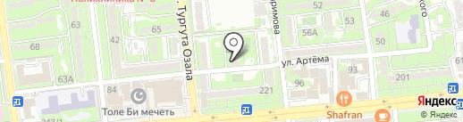 Аят-Т на карте Алматы