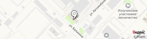 Отделение ГИБДД Отдела МВД России по Нижневартовскому району на карте Излучинска