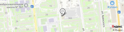 СОЛНЕЧНЫЙ на карте Алматы