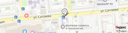 Алматинский государственный колледж сервиса и технологий на карте Алматы
