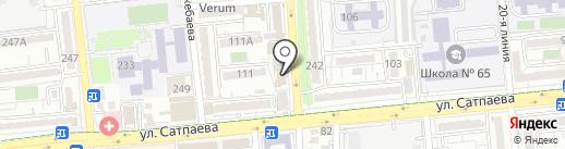 Кереге на карте Алматы