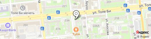 Прага на карте Алматы