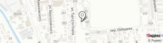 На Лебедева на карте Алматы