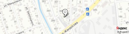 Алматы тунi на карте Алматы