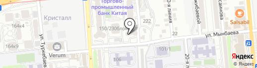ASTRA, ТОО на карте Алматы