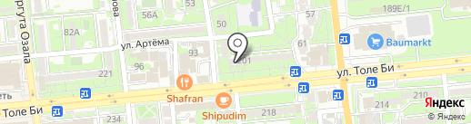 Нотариус Гатиятулина А.Р. на карте Алматы