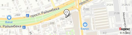 Р-218 на карте Алматы