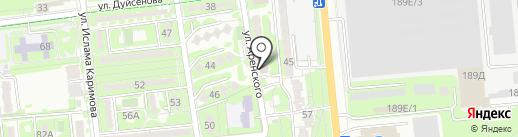 Нотариус Жумадылова А.К. на карте Алматы