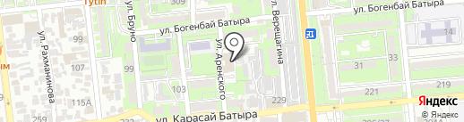 АИФ и К на карте Алматы