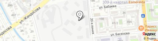 Студия А на карте Алматы