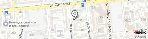Релайф на карте Алматы