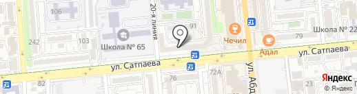 Жардем на карте Алматы