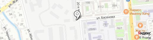 САВО, гаражный кооператив на карте Алматы