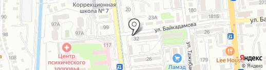 Жигер на карте Алматы