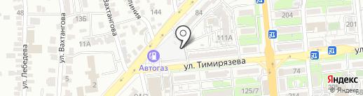 На Тимирязева на карте Алматы