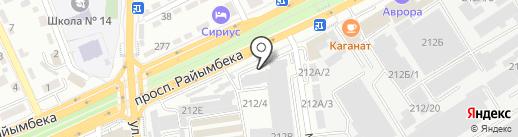 ДУОС-КАРТ на карте Алматы