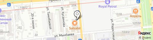 Служба заказа водителя на карте Алматы