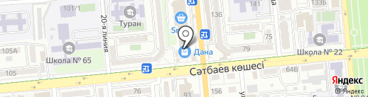 Балакай на карте Алматы