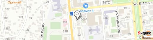 Коныр на карте Алматы