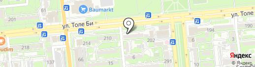 Ильсави на карте Алматы