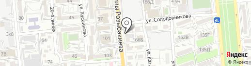 Купюра на карте Алматы