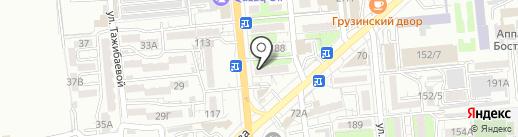 Две палочки на карте Алматы