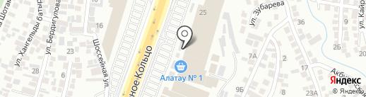 Алатау-1 на карте Алматы