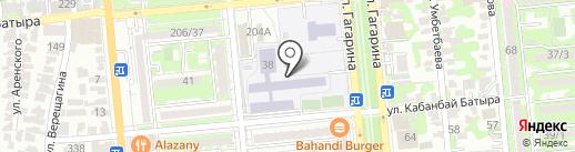 Гимназия №18 на карте Алматы