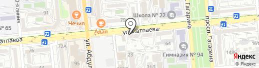 Нотариус Мукажанова Л.К. на карте Алматы