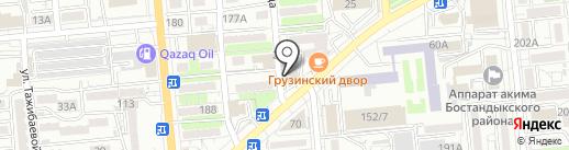 Луч на карте Алматы