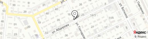Бахат на карте Алматы