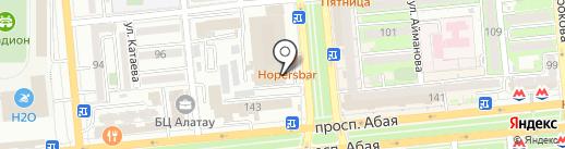 Жас казак на карте Алматы