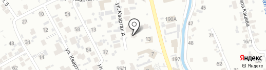 Уч Ляган на карте Алматы