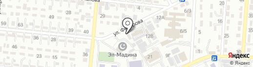 Абу Ханифа на карте Алматы