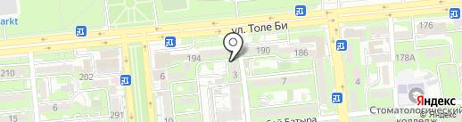Пункт ремонта обуви на карте Алматы