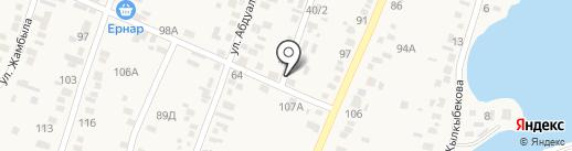 Продовольственный магазин на карте Жапека Батыра