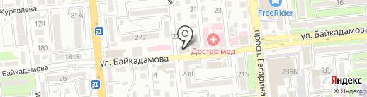 Автомагазин на карте Алматы