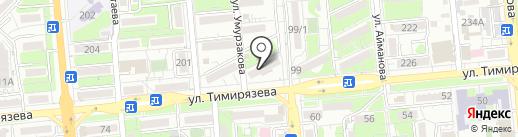 Авиталь на карте Алматы
