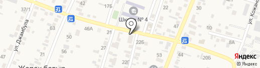 Толеубек на карте Жапека Батыра