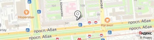 Серебряный диск на карте Алматы