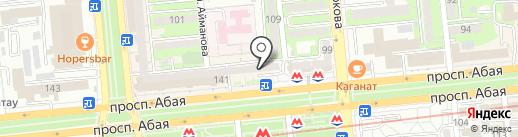 Нотариус Егизбаева Г.А. на карте Алматы