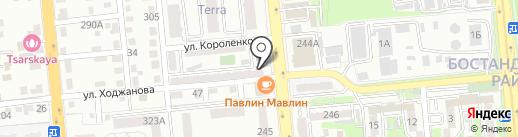 Тамаша на карте Алматы