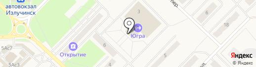 Банкомат, Ханты-Мансийский банк Открытие, ПАО на карте Излучинска
