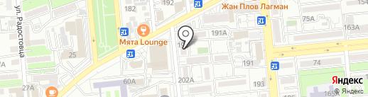 Нотариус Айсариева Г.Ю. на карте Алматы