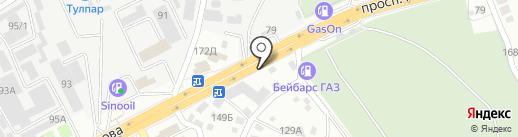 Магазин автозапчастей для грузовых иномарок на карте Алматы