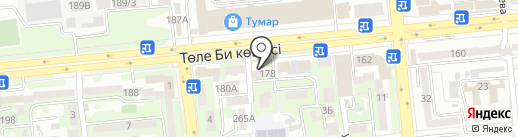 Нотариус Кенжебаева А.С. на карте Алматы