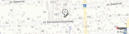 Прокуратура Наурызбайского района г. Алматы на карте Алматы