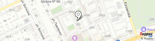 Шахбал на карте Алматы