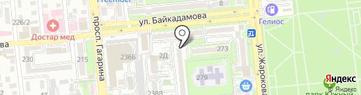 Верный на карте Алматы